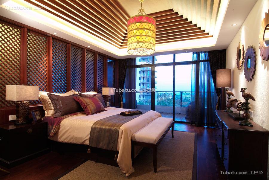 别具东南亚风格家装卧室效果图