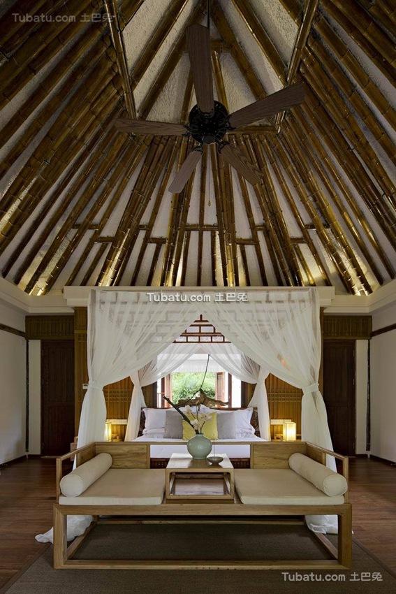 竹林生态中式风格吊顶效果图