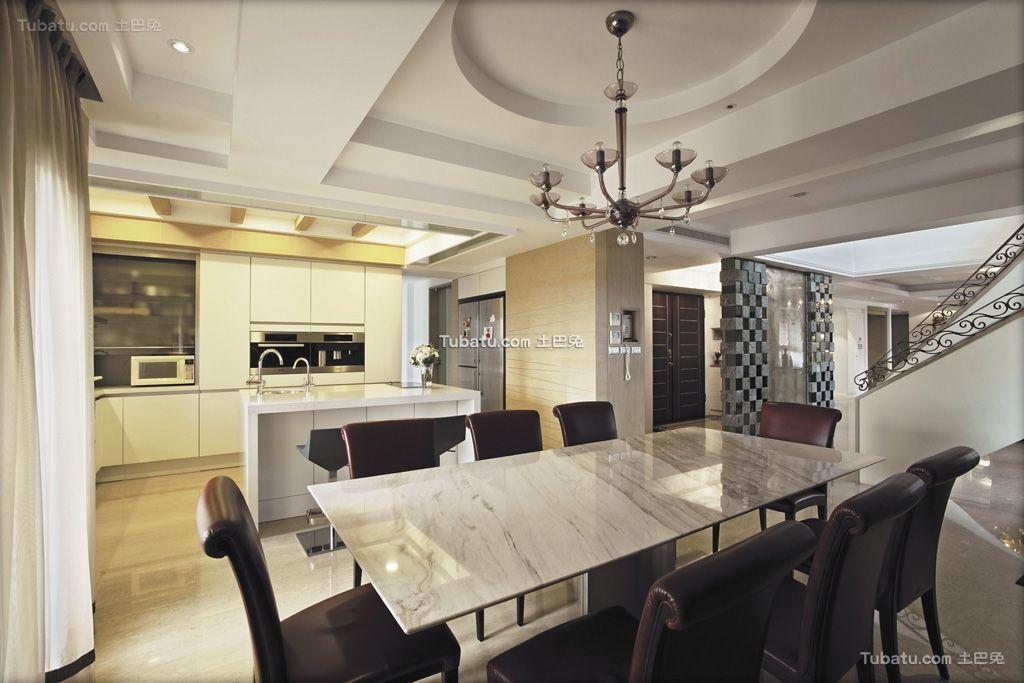 清雅欧式风格家装餐厅效果图片