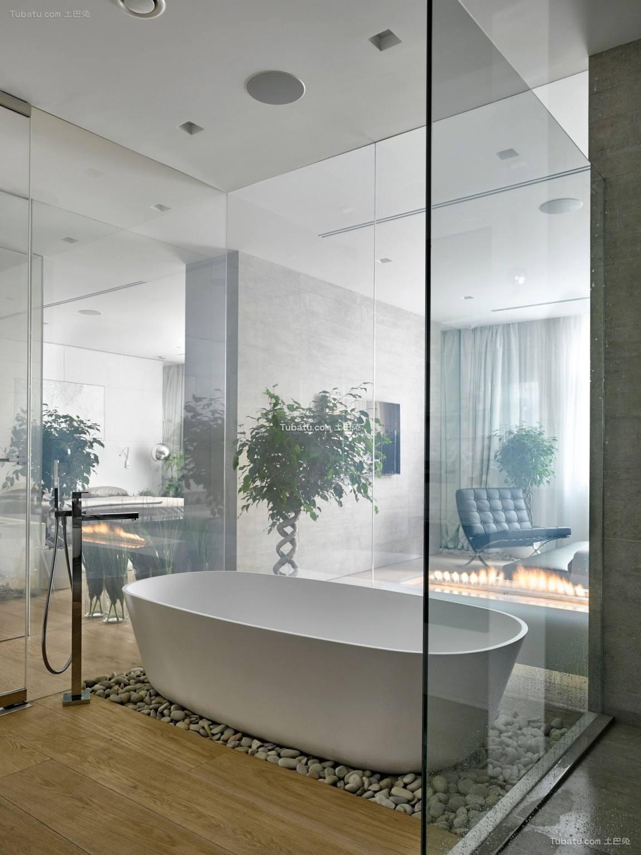 温润一居室家装卫生间效果图