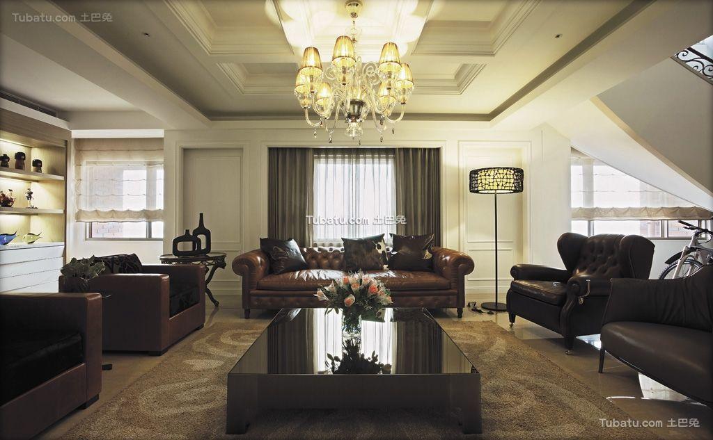 清雅欧式风格家装客厅效果图片