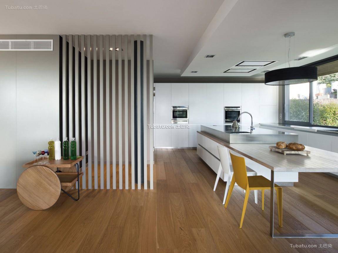 前卫三居室家装餐厅效果图