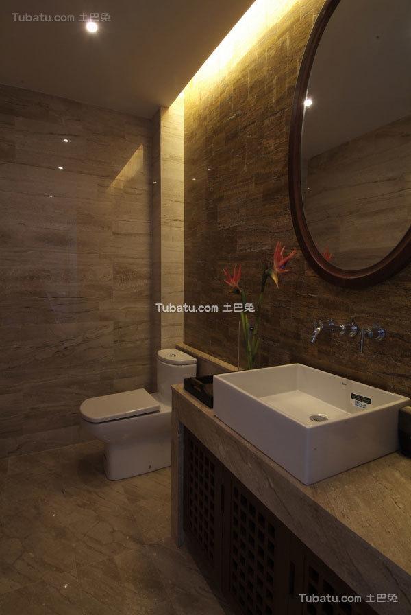 别具东南亚风格家装卫生间效果图
