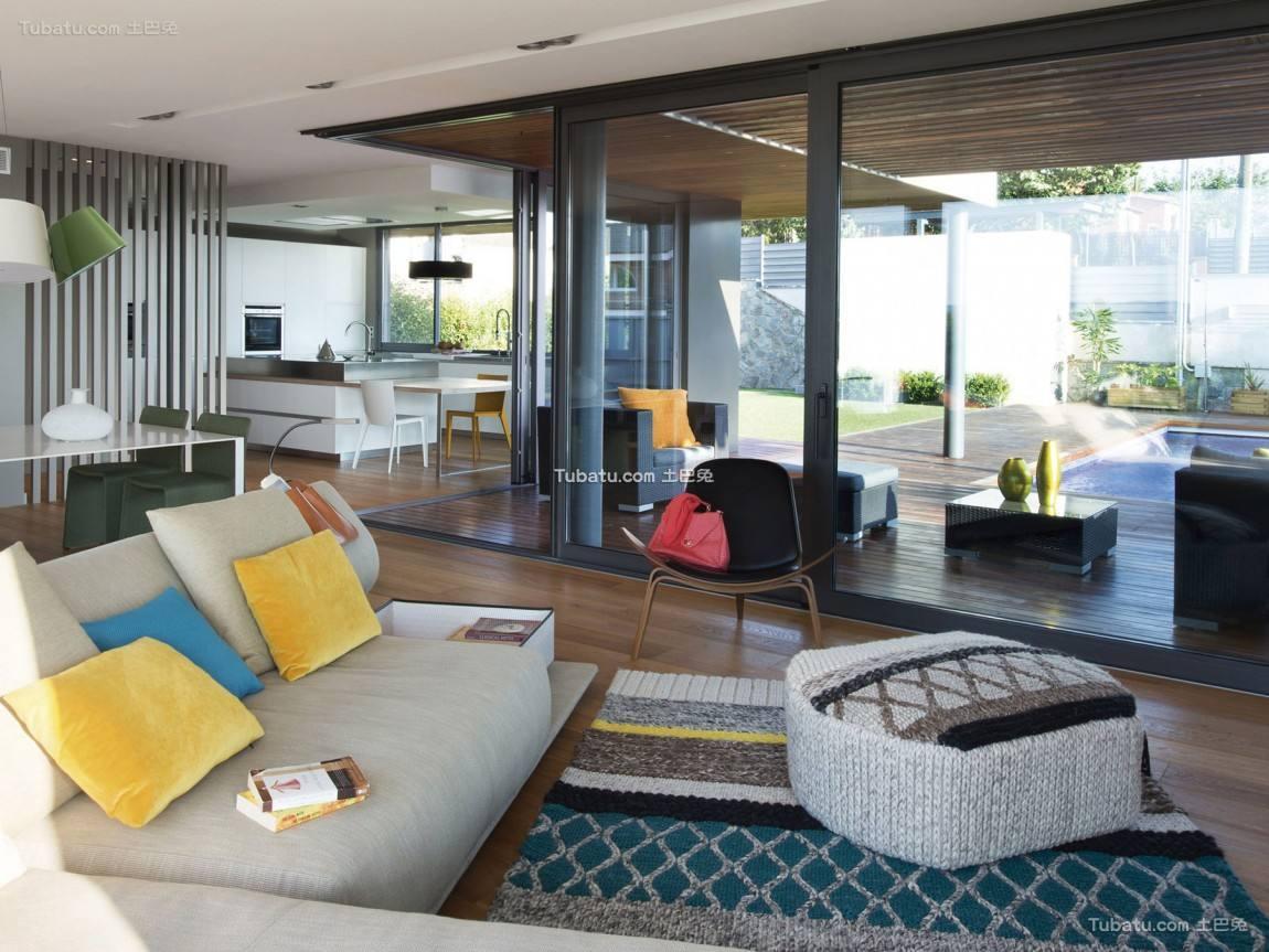 前卫三居室家装客厅效果图片
