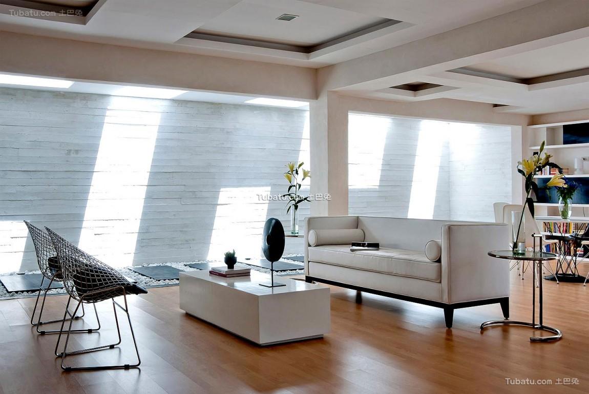 温润一居室家装客厅效果图
