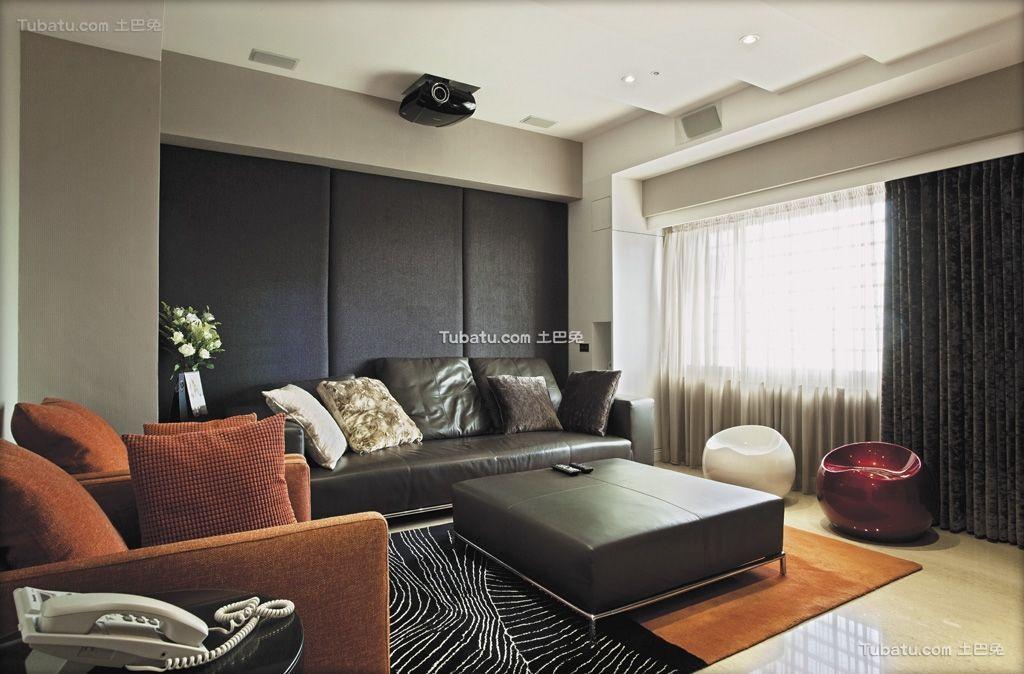清雅欧式风格家装沙发背景墙效果图