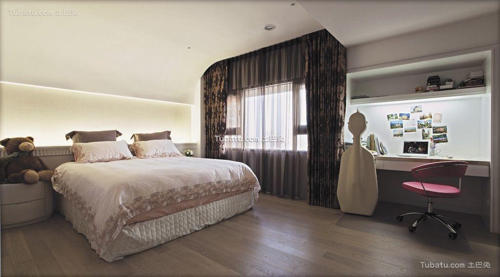 清雅欧式风格家装卧室效果图