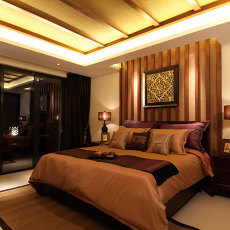 别具东南亚风格家装卧室效果图片