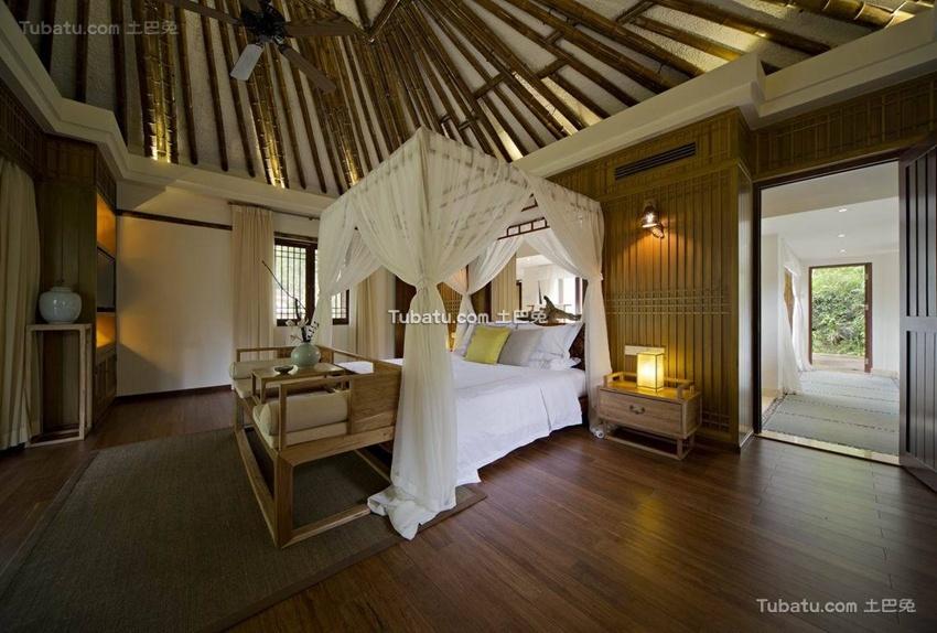 竹林生态中式风格卧室设计图