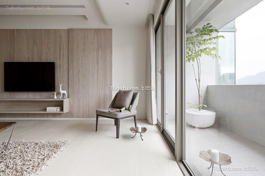 简单清新日式风格窗户家装效果图