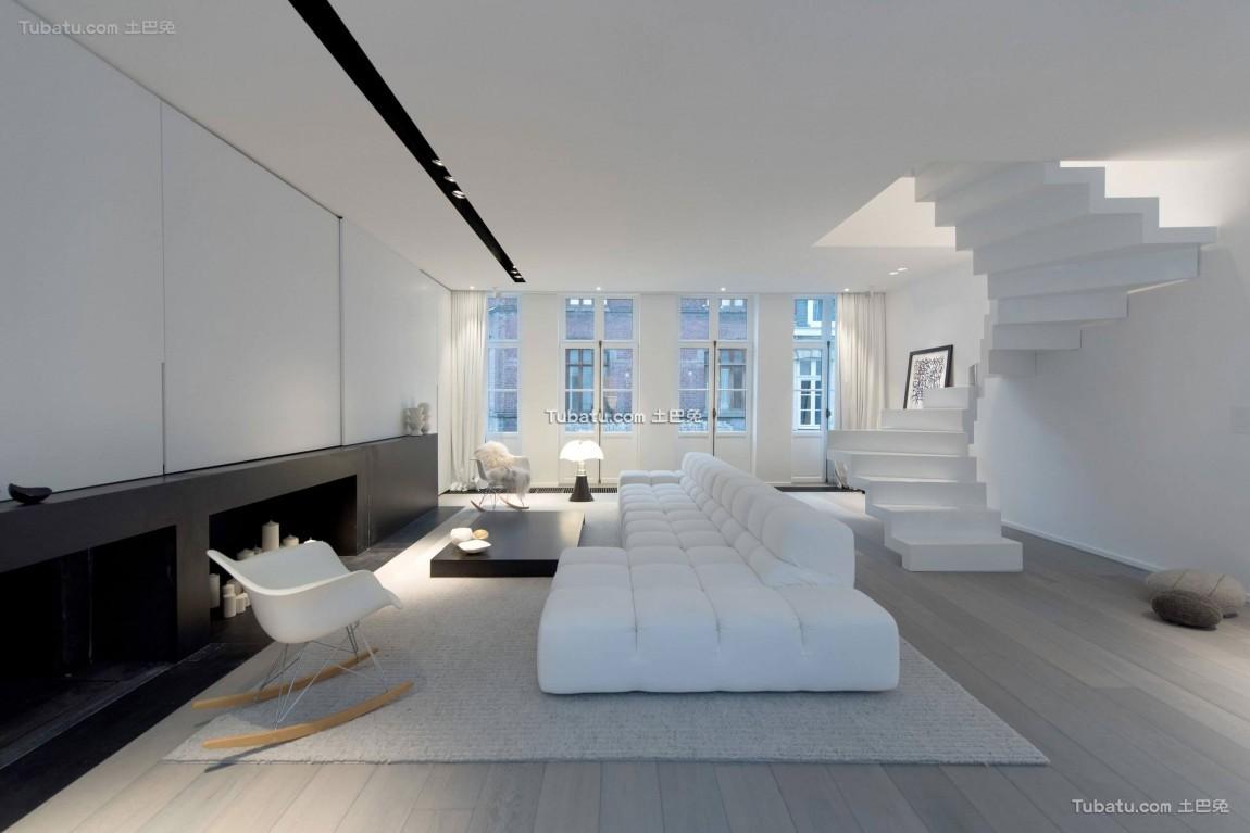 黑白复式家装效果图