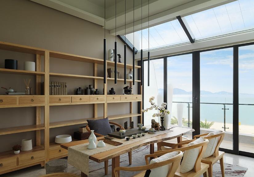 观海美式风格家装餐厅设计效果图