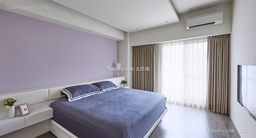 明亮现代小户型卧室效果图