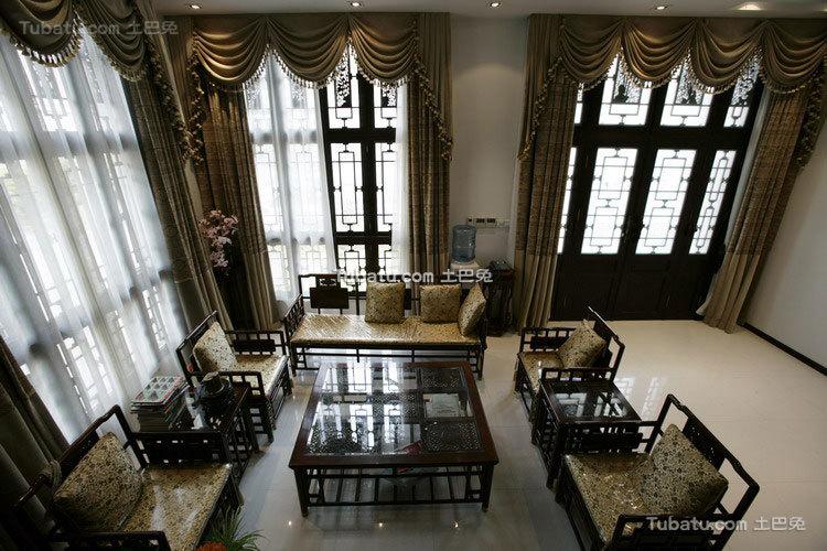 中式传统别墅客厅欣赏