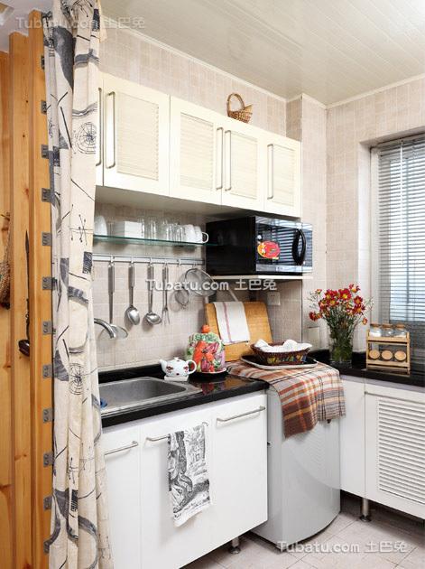 时尚风小户型家装厨房效果图