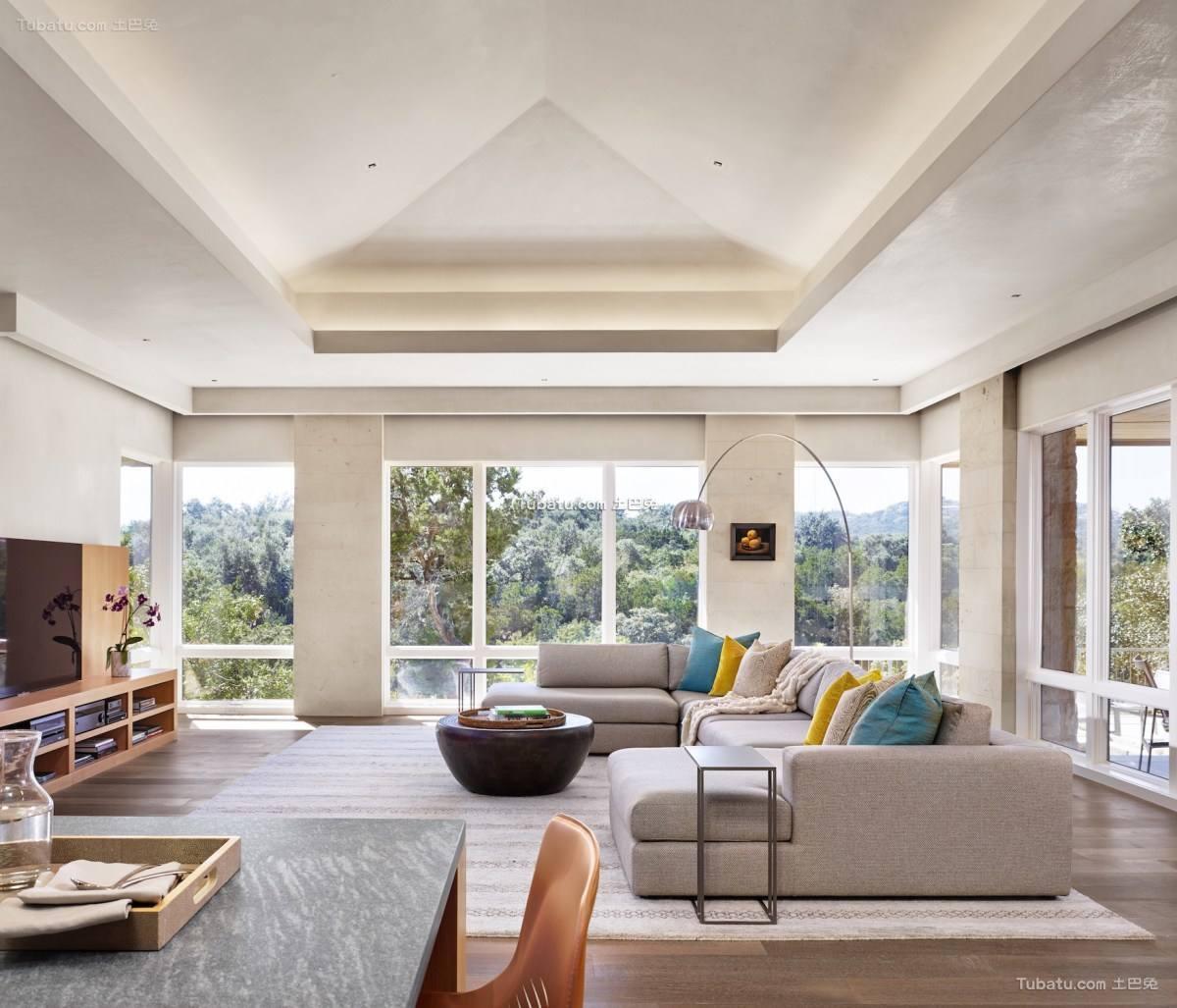 时尚现代风二居家装客厅效果图