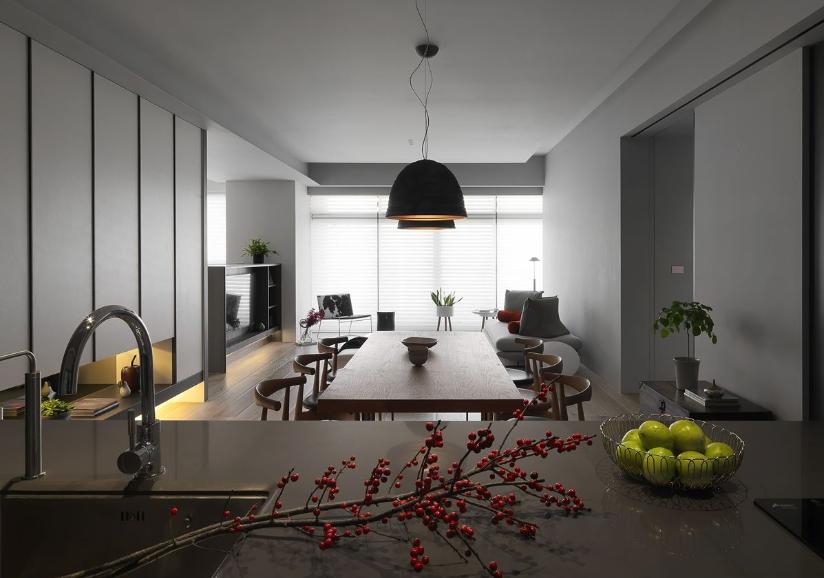 新旧交融的美式住宅餐厅设计图
