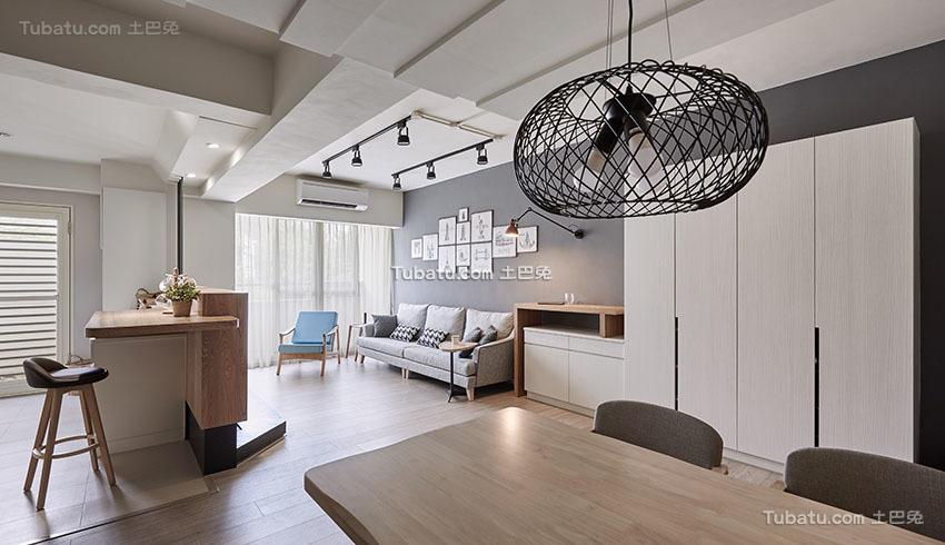 明亮现代小户型客厅设计效果图