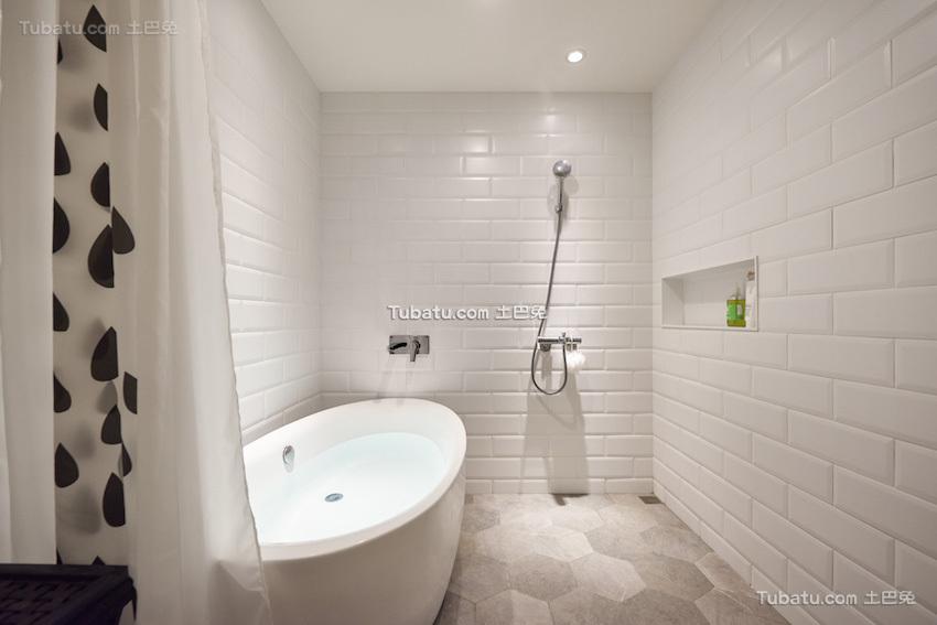 板桥北欧风格家装卫生间效果图
