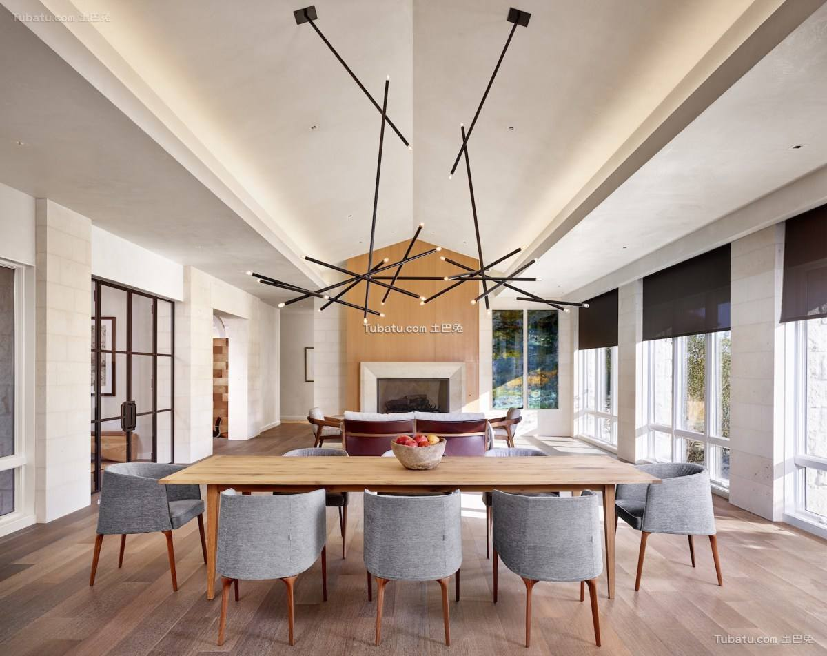 现代风二居室家装效果图