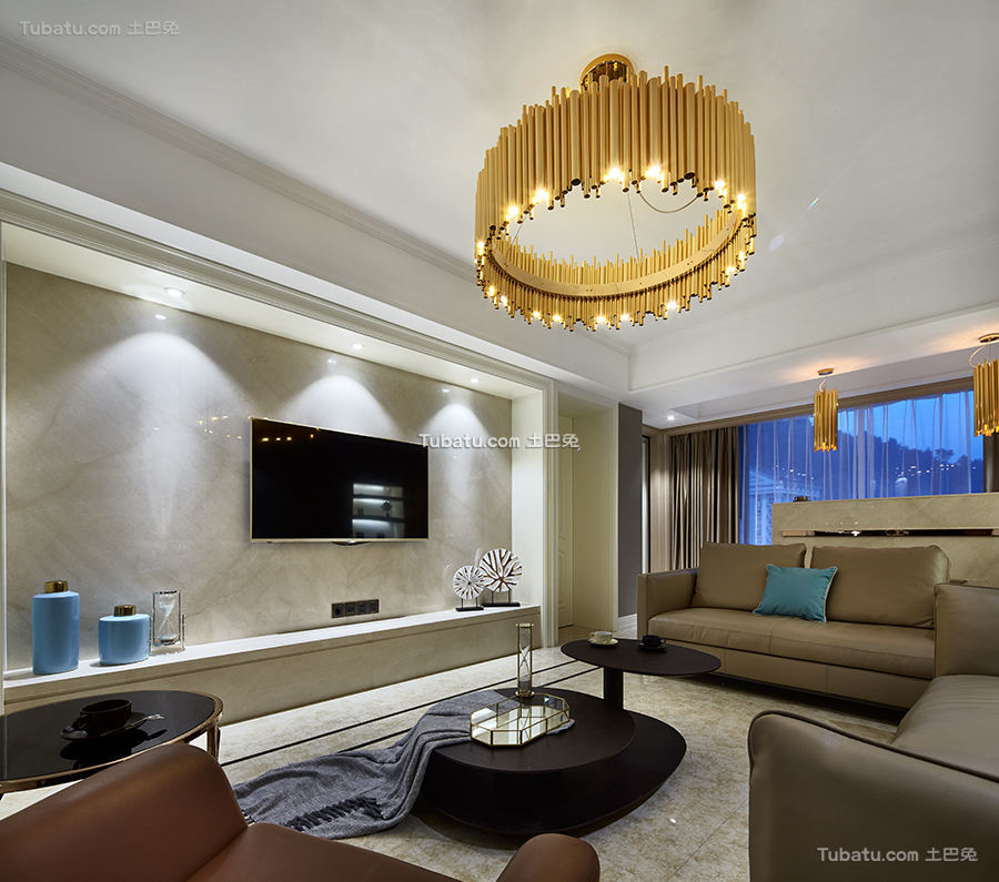 高雅欧式家装电视背景墙效果图