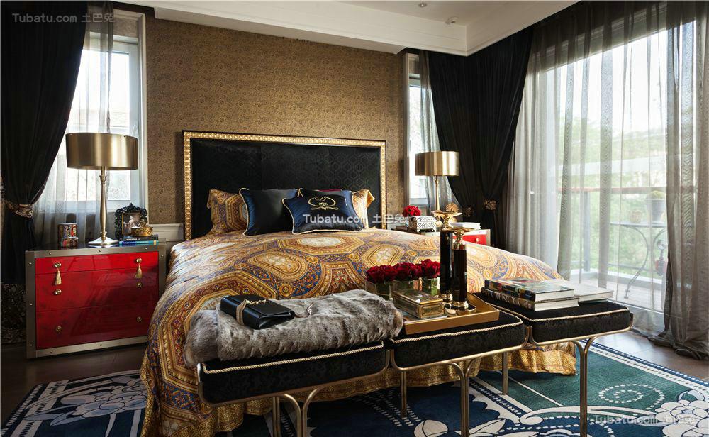 唯美新古典家装卧室效果图