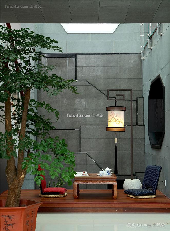 简静东方中式风格家装榻榻米效果图