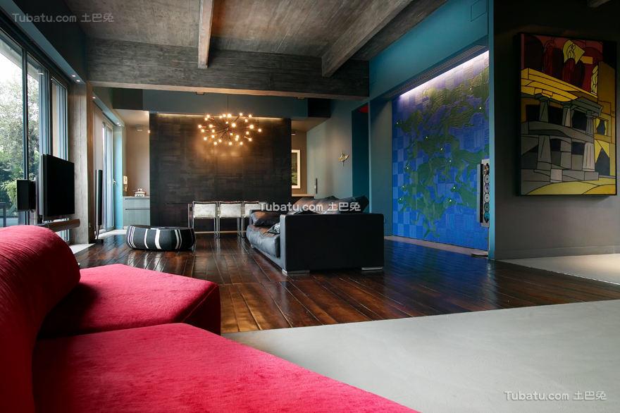 美式风格住宅背景墙效果图