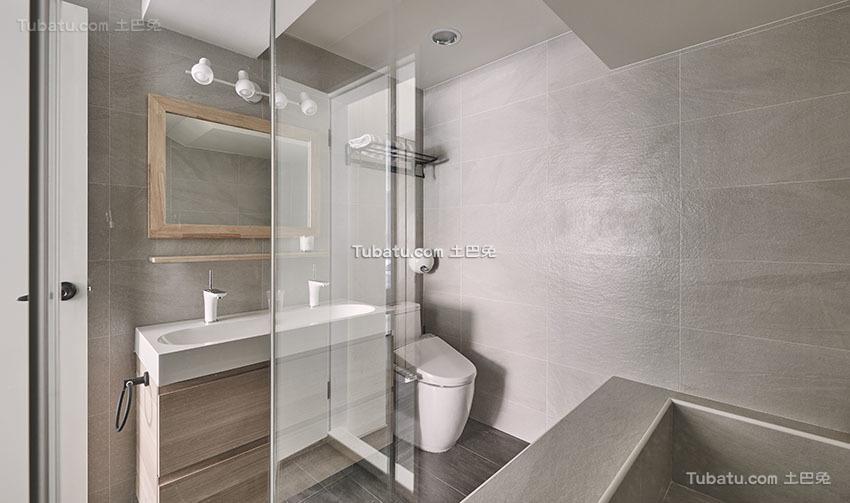 明亮现代小户型卫生间效果图