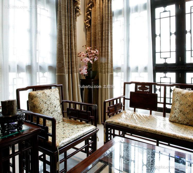 中式传统别墅窗户效果图
