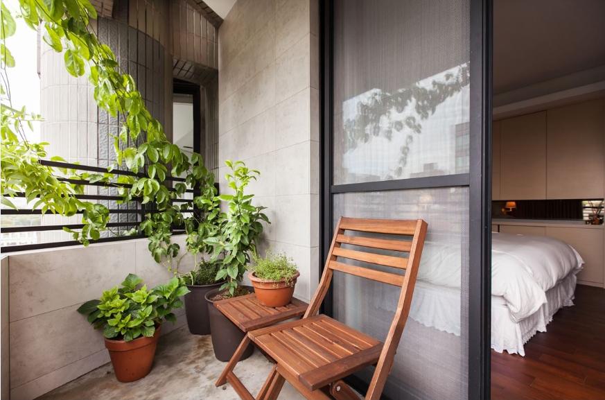 自然简欧风格家装阳台效果图