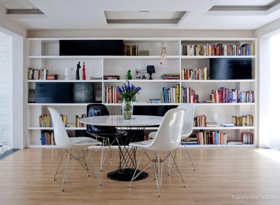 美式简约风家装书房效果图片