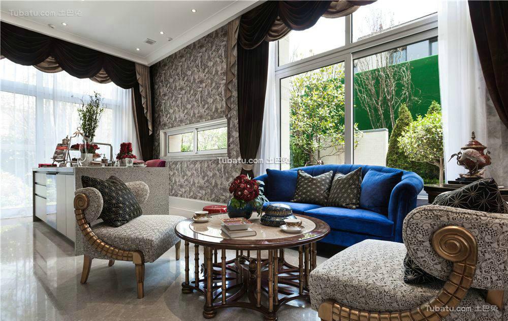 唯美新古典家装客厅效果图片