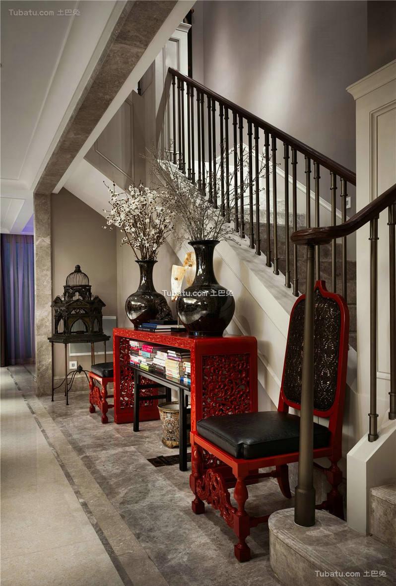 唯美新古典家装楼梯效果图
