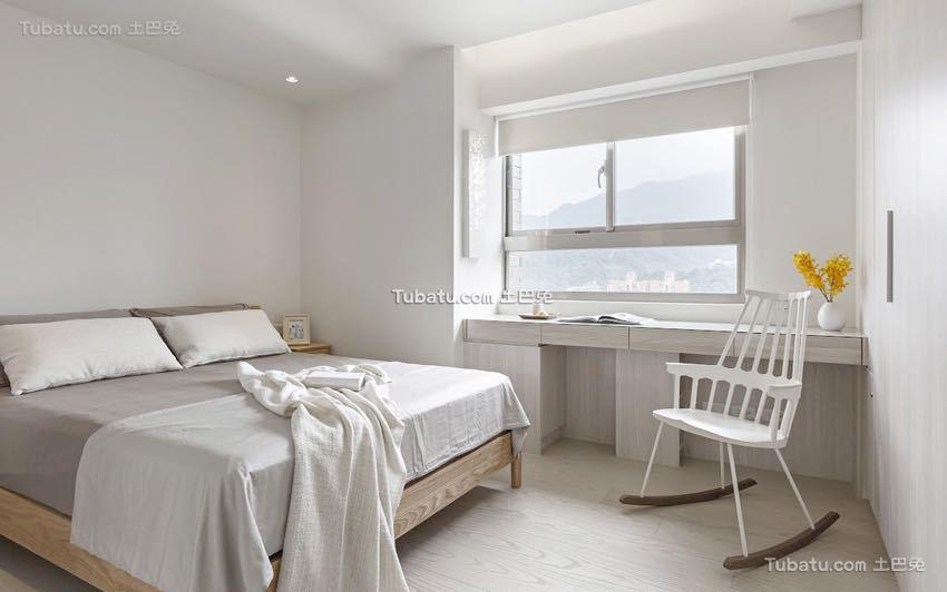 简单清新日式风格家装卧室效果图