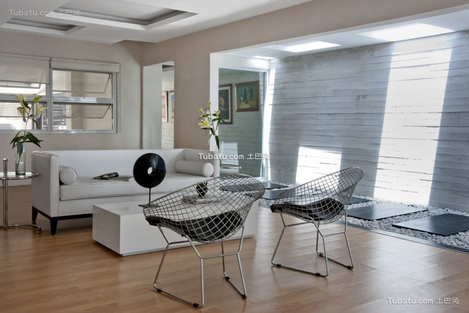 美式简约风家装客厅效果图