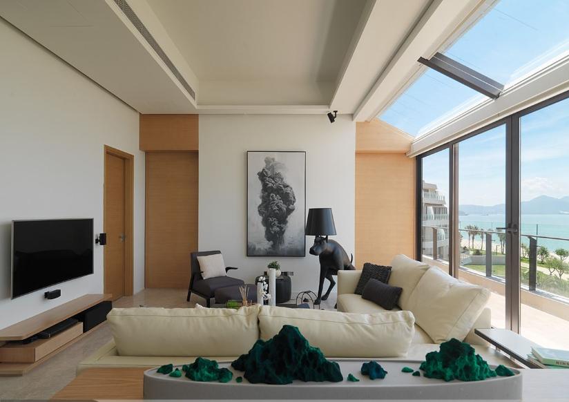 观海美式风格家装背景墙效果图