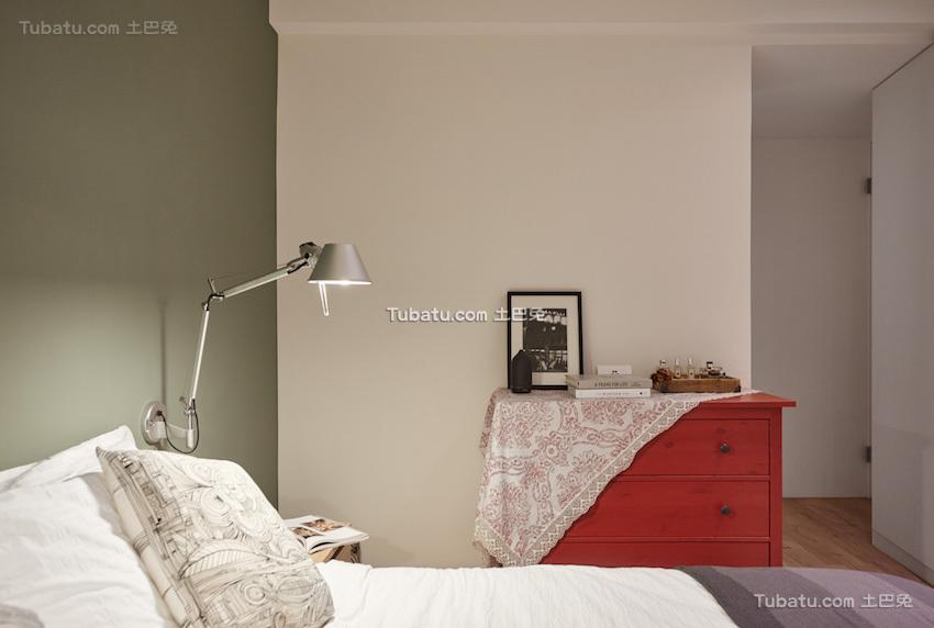 板桥北欧风格家装主卧效果图
