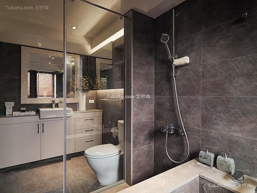 脱俗一居室家装卫生间效果图