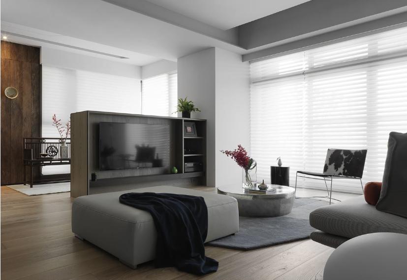 新旧交融的美式住宅客厅图