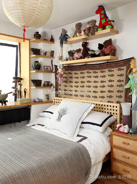 时尚风小户型家装卧室效果图