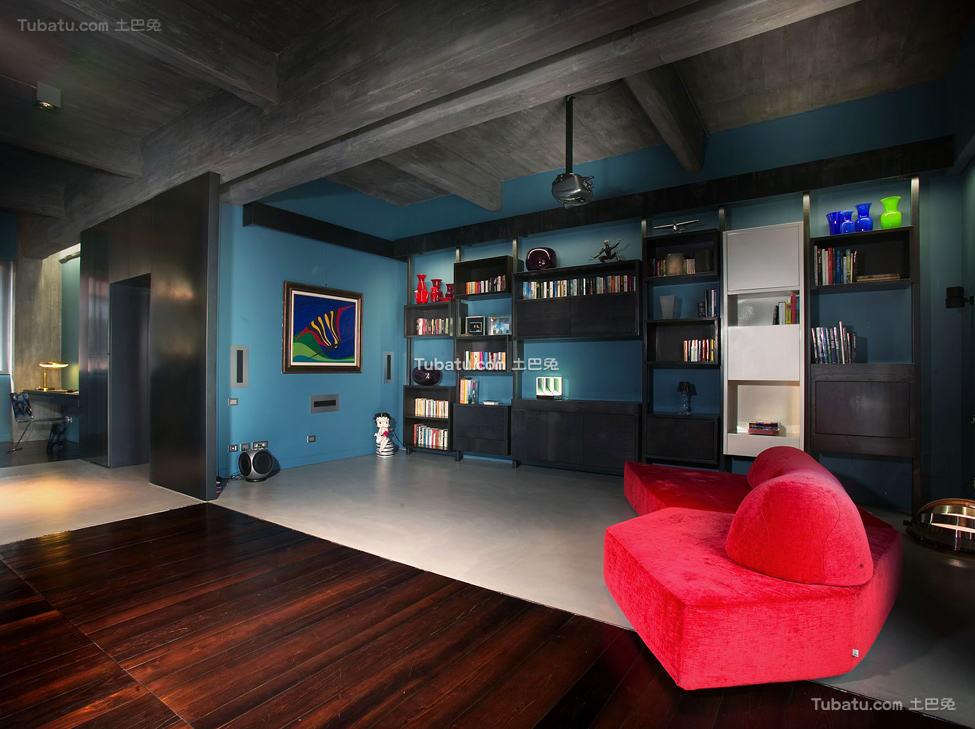 美式风格住宅客厅设计效果图
