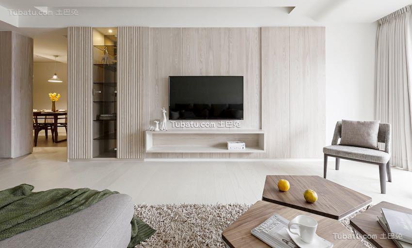 简单清新日式风格家装背景墙效果图