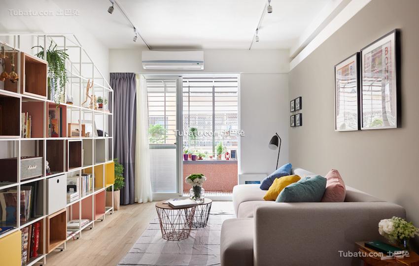 板桥北欧风格家装客厅效果图
