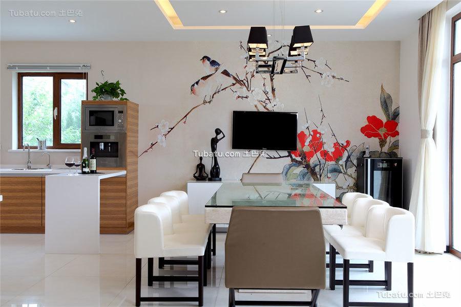 简静东方中式风格家装餐厅效果图片