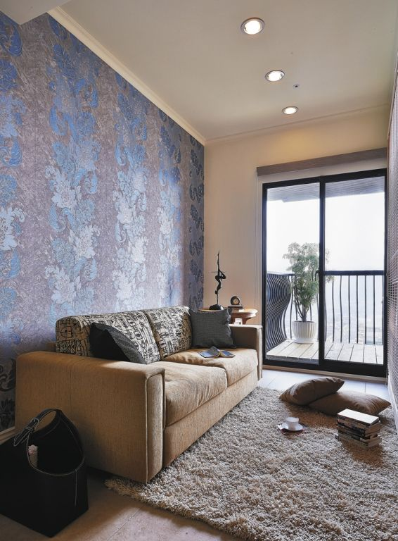 精致奢华乡村田园风格家装沙发背景墙效果图