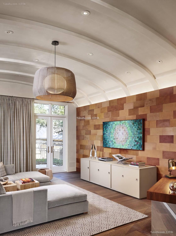 现代风二居家装电视背景墙效果图