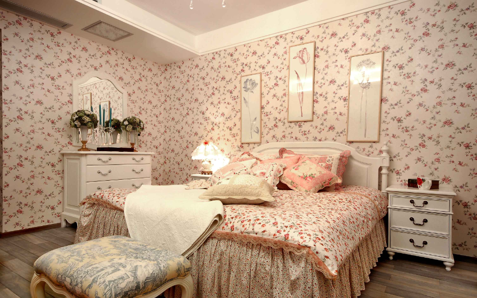 女生梦幻田园风格家装卧室效果图