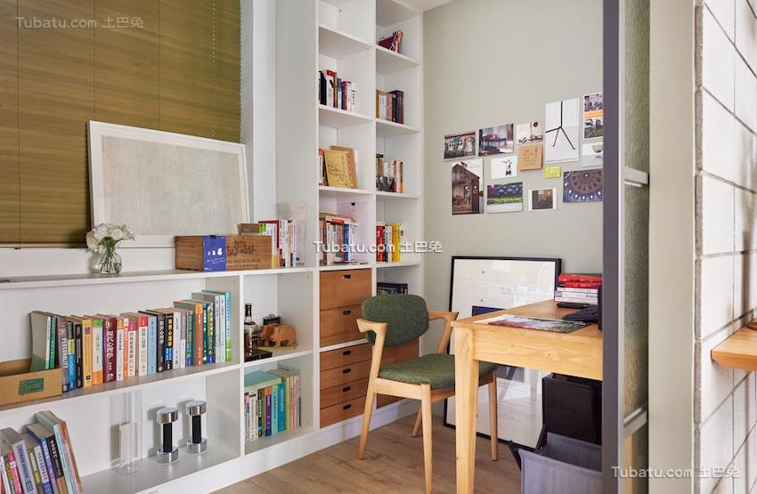 板桥北欧风格家装书房效果图