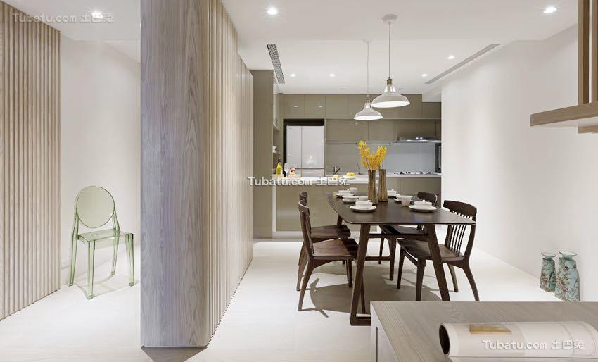 简单清新日式风格餐厅家装效果图片